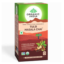 Load image into Gallery viewer, TULSI MASALA CHAI 25 Tea Bags【ORGANIC INDIA】