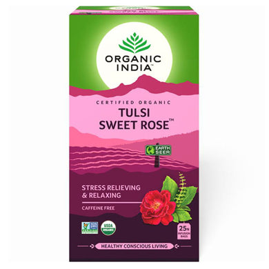 TULSI SWEET ROSE TEA 25 Tea Bags【ORGANIC INDIA】
