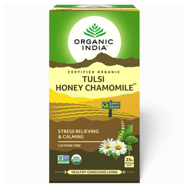 TULSI HONEY CHAMOMILE TEA 25 Tea Bags【ORGANIC INDIA】