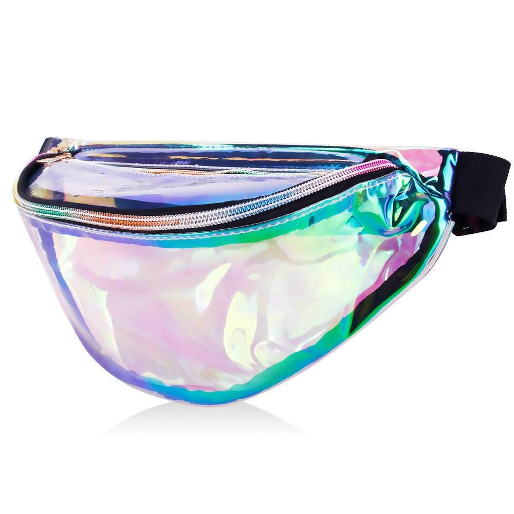 6afa42eaadfb MDcharm Clear Holographic Fanny Pack - Iridescent Fanny Pack ...