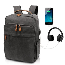 760b9fb380 Business Laptop Backpack 17-17.3 Inch w USB Charging Port Water-Resistant  Canvas
