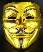 Load image into Gallery viewer, Gold Satoshi Vendetta Mask