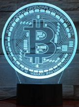 Load image into Gallery viewer, Bitcoin 3D Illusion Lamp