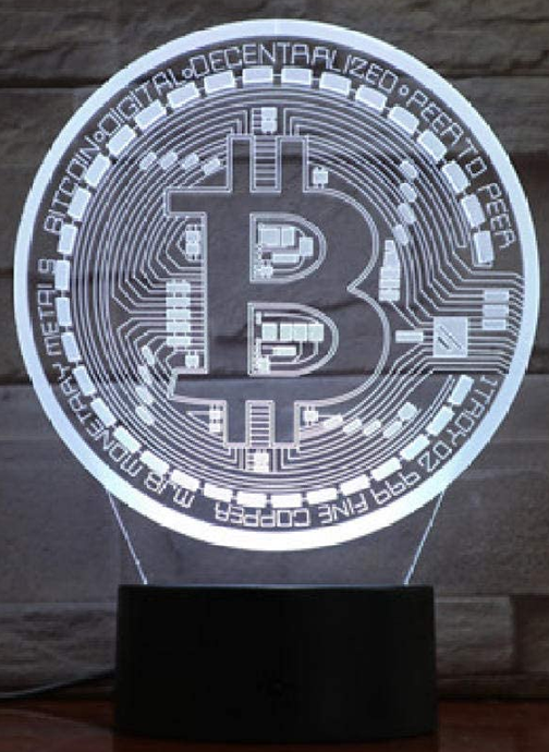 Bitcoin 3D Illusion Lamp