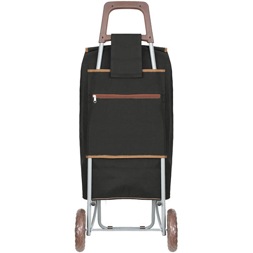 Strong Large folding 2 wheeled shopping trolley cart with expandable bag