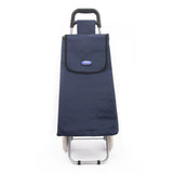 Eagle London 2 Wheel Plain Microfiber Shopping Trolley - Solid Colours