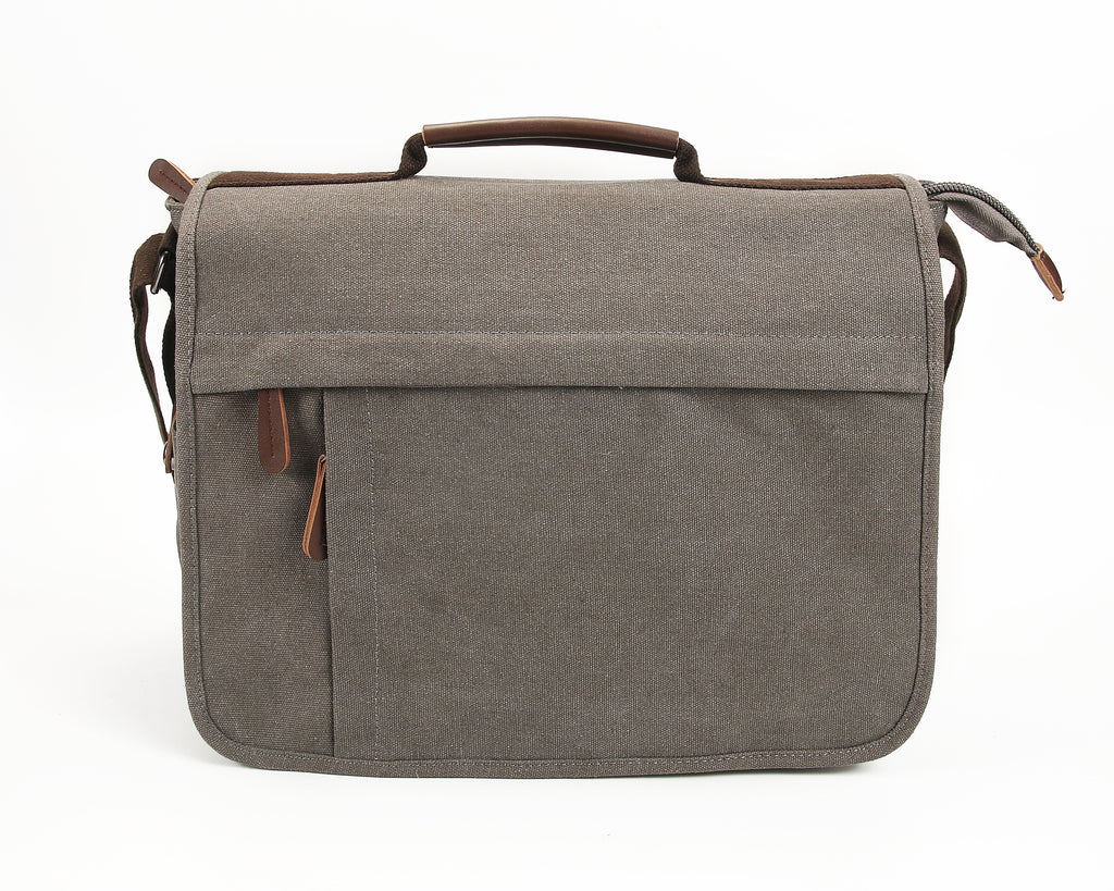 Eagle Men's Canvas Laptop / Document Messenger Bag