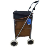 Eagle 4 Wheel Two Tone Suede Shopping Trolley