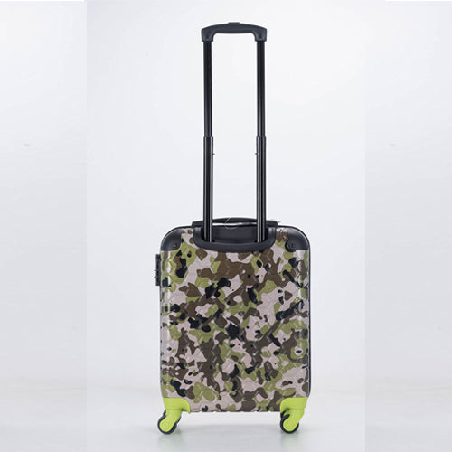 Premium Quality ABS Hard Shell Urban Camouflage Print Spinner Suitcase with Built in Lock - Cabin Size