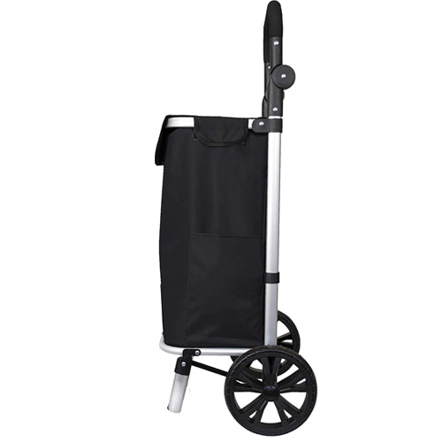 Eagle London Shopping Trolley, Folding Handle Trolley on Wheels with Durable Bag and Foldable Design, Max Capacity 25kg, 45L