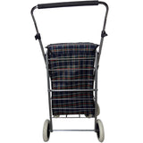 Eagle London Deluxe Shopping Trolley 4 (6) Wheels - Beautiful Tartan Print