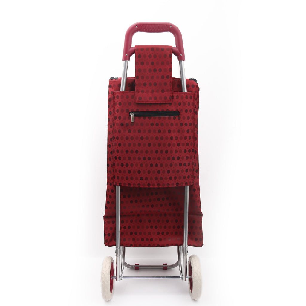 Eagle London 2 Wheel Shopping Trolley - Colourful Polka Dots