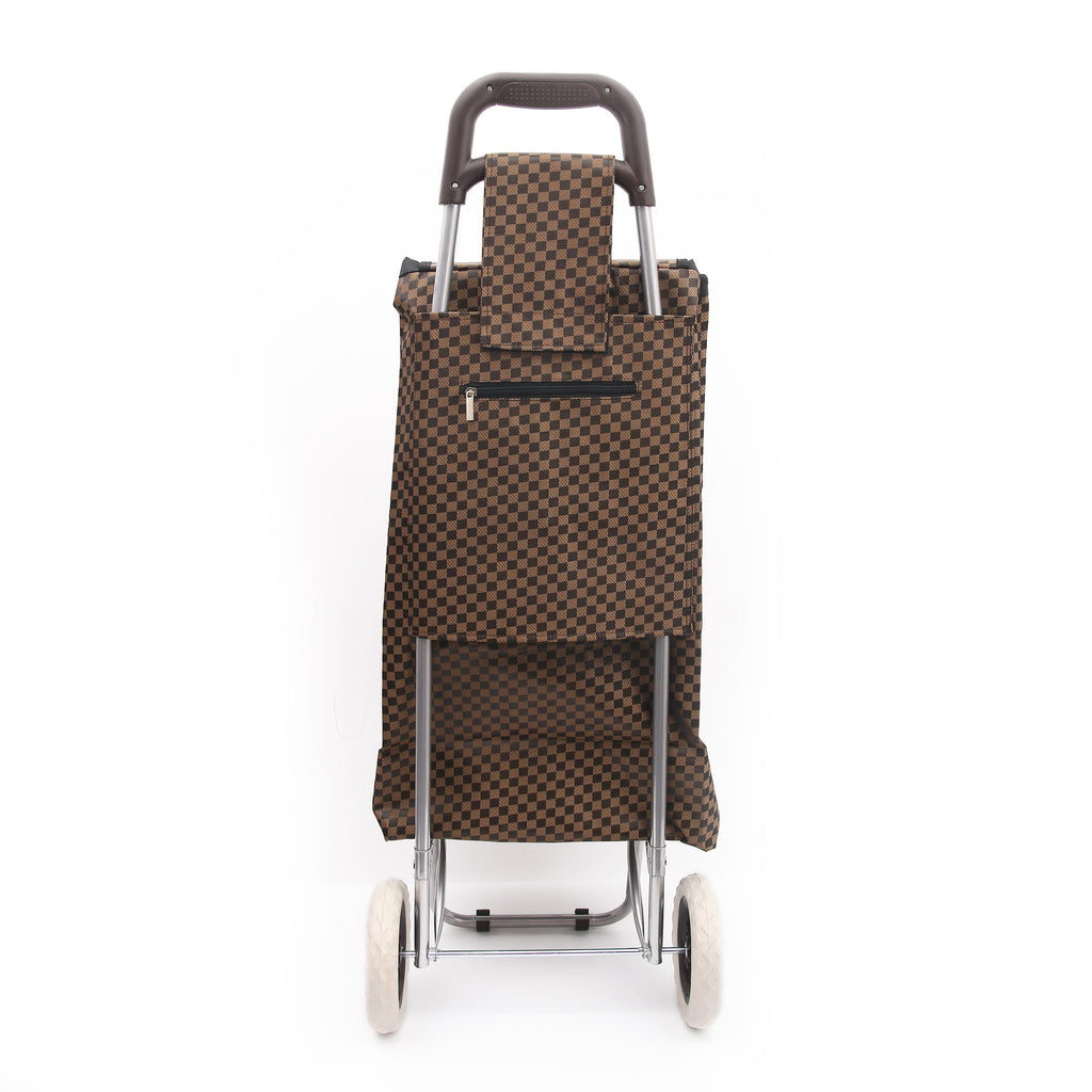 Eagle London 2 Wheel Shopping Trolley - Checkered Print