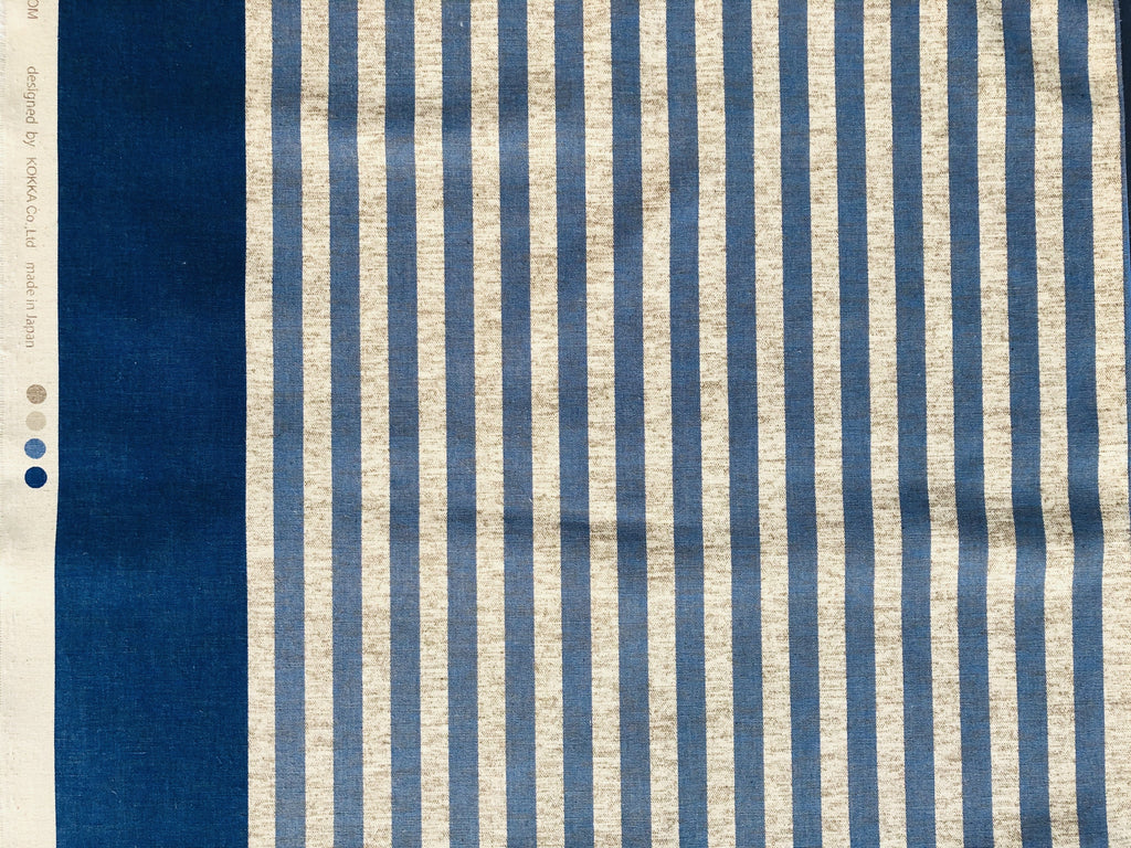 Blue Striped Lightweight fabric - Fabricanaus