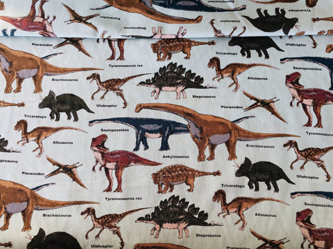 Kobayashi Japanese Dinosaur Cotton Twill Fabric.