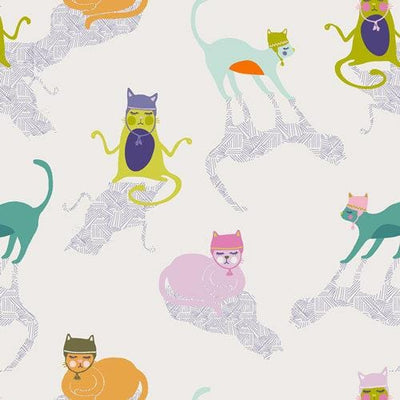 "Oh Meow By Jessica Swift for Art Gallery Fabrics ,10"" x 10"" 42 pcs bundle"