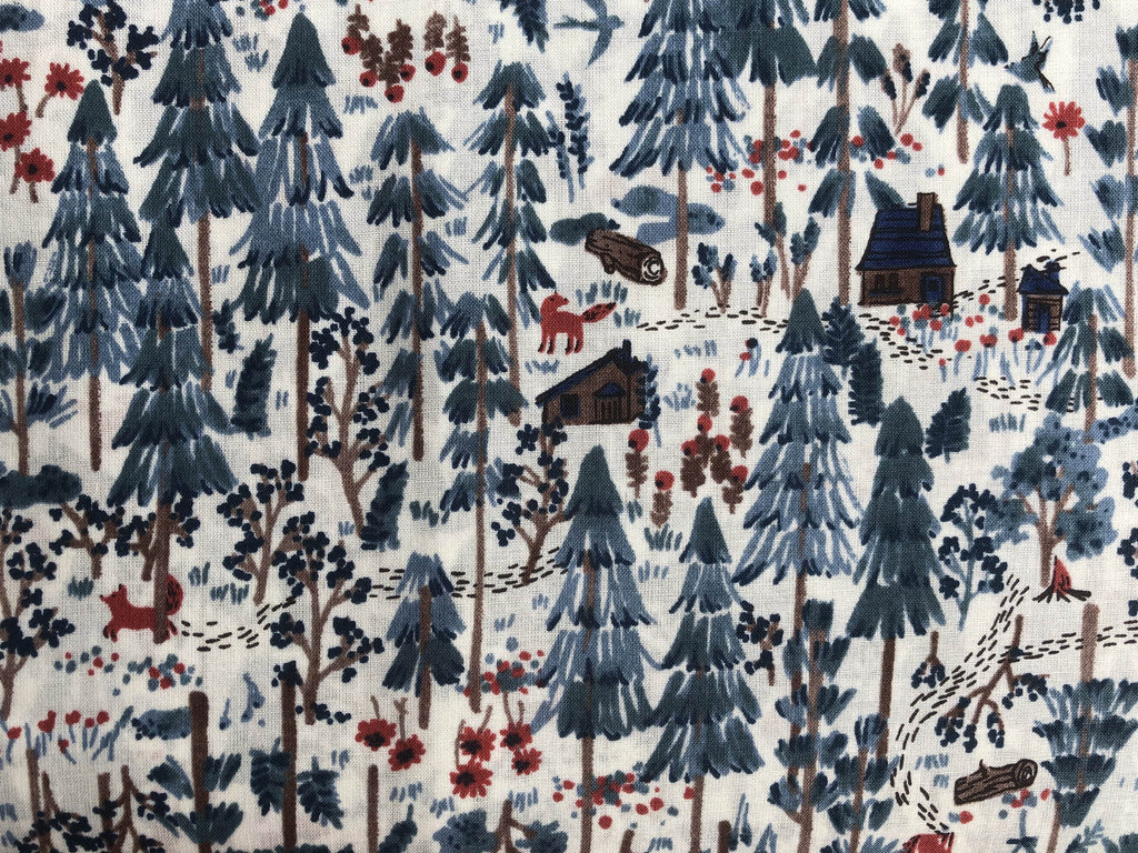 Japanese Hokkoh Fox  Cotton Lawn Fabric .