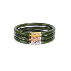 Budhagirl Three Kings All Weather Bangles Jade