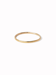 Go Rings 14K Gold Filled Gold Hammered Stacker