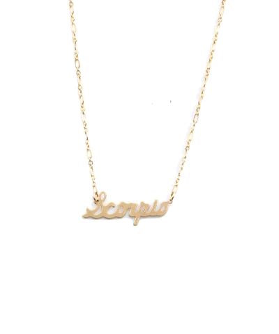 Farrah B Identity Horoscope Necklace