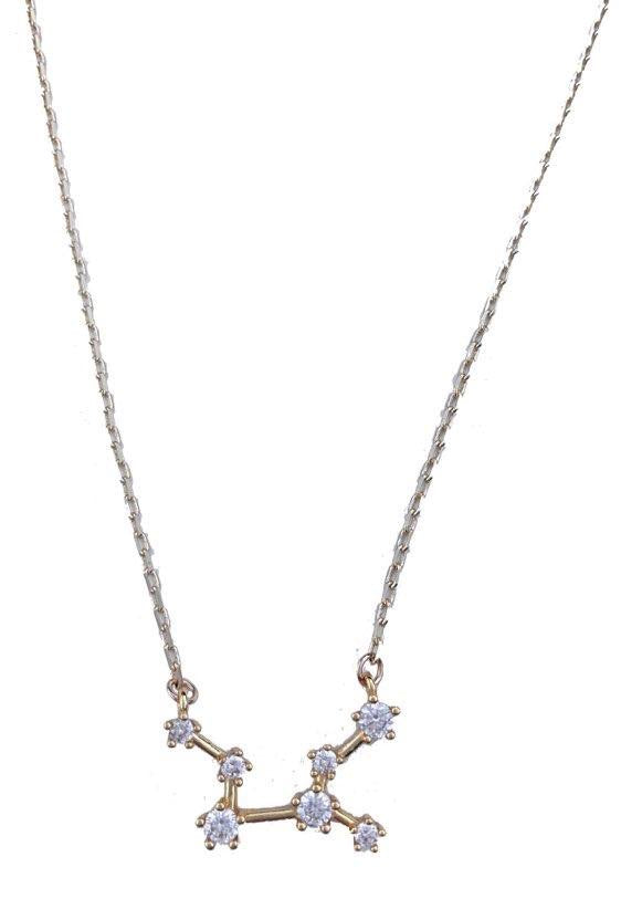 Farrah B Star Signature Zodiac Necklace