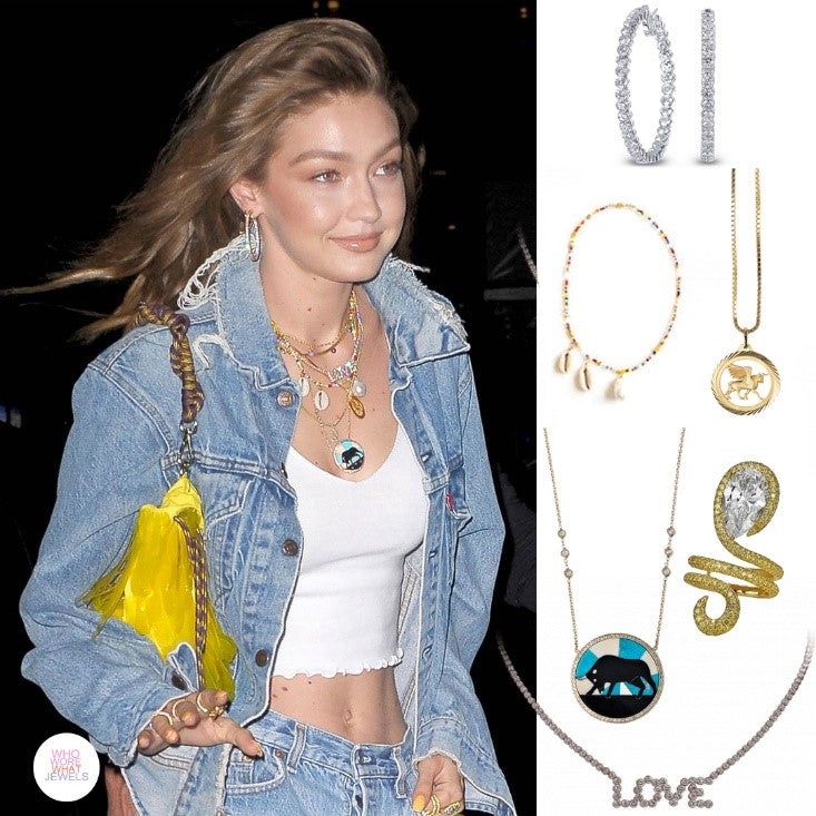 Gigi Hadid has so many jewelry and accessories