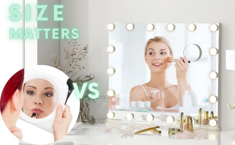 Size of a makeup mirror with light really matter