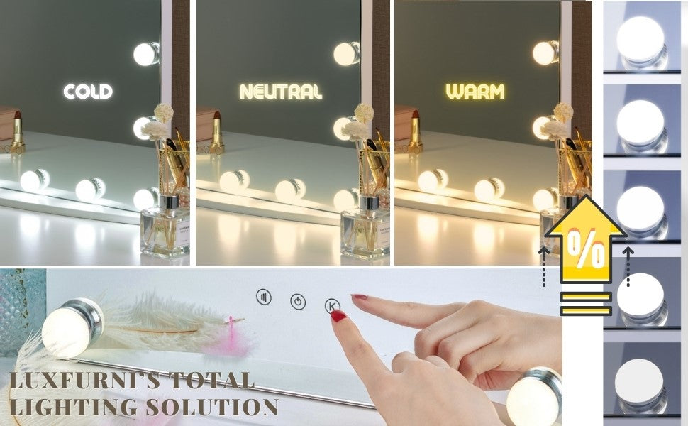 A makeup mirror with LED lights help a lot
