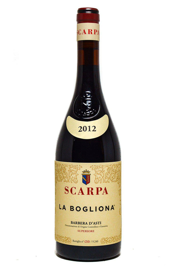 Bottle of Antica Casa Vinicola Scarpa, Barbera La Bogliona, 2012 - Flatiron Wines & Spirits - New York