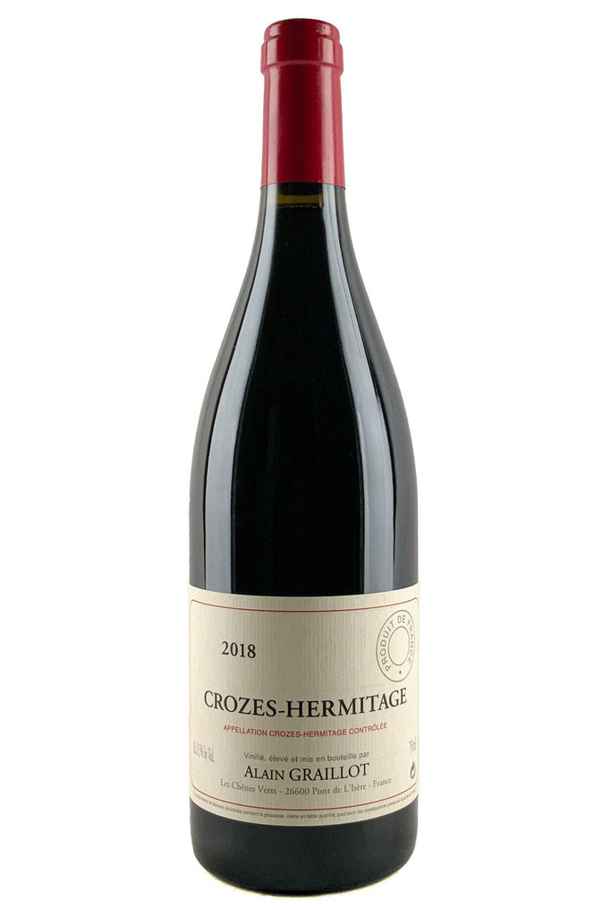 Bottle of Alain Graillot, Crozes Hermitage Rouge, 2018 - Flatiron Wines & Spirits - New York