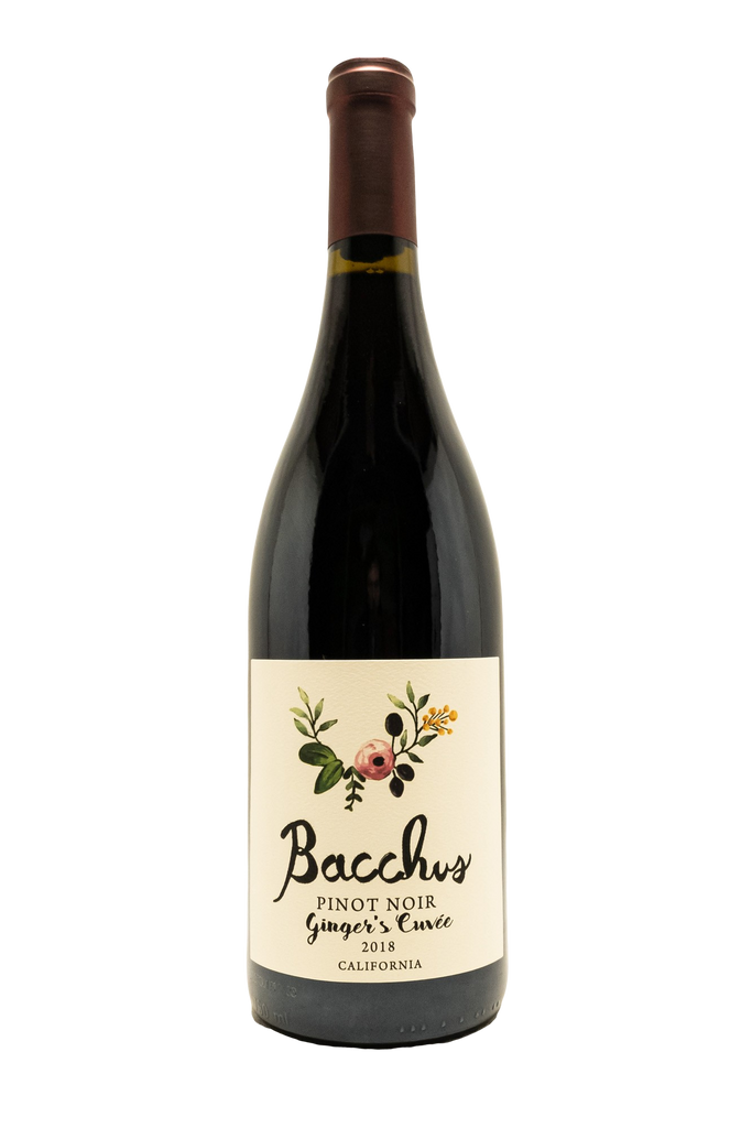 "Bottle of Bacchus Cellars, Pinot Noir ""Ginger's Cuvee"", 2018 - Flatiron Wines & Spirits - New York"