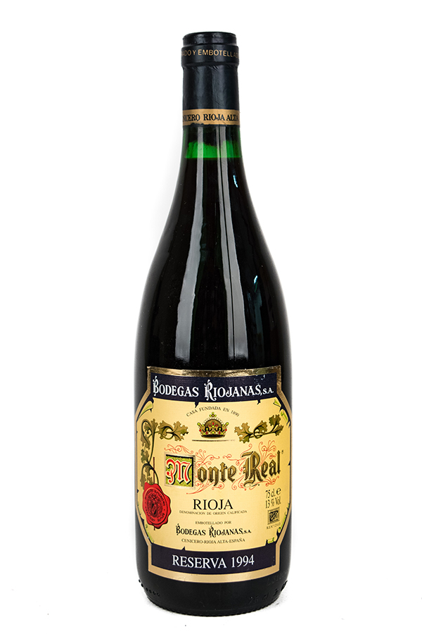 Bottle of Bodegas Riojanas, Rioja Reserva Monte Real, 1994 - Flatiron Wines & Spirits - New York
