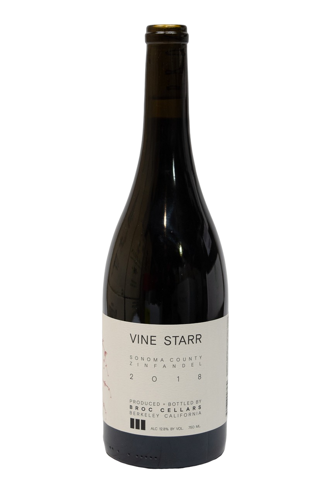 Bottle of Broc Cellars, Vine Starr Zinfandel, 2018 - Flatiron Wines & Spirits - New York