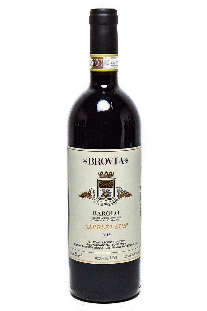 Bottle of Brovia, Barolo Garblet Sue, 2015 - Flatiron Wines & Spirits - New York