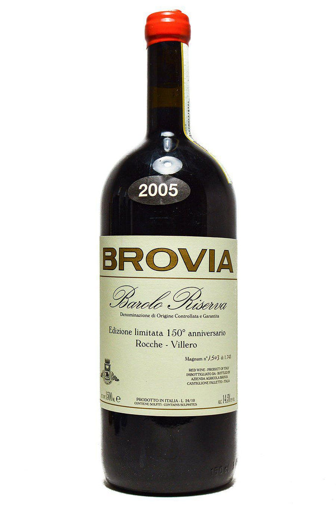 "Bottle of Brovia, Barolo Riserva Rocche-Villero ""150 Anniversario"", 2005 (1.5L) - Flatiron Wines & Spirits - New York"