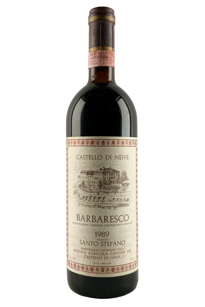 Bottle of Castello Di Neive, Barbaresco Santo Stefano, 1989 - Flatiron Wines & Spirits - New York