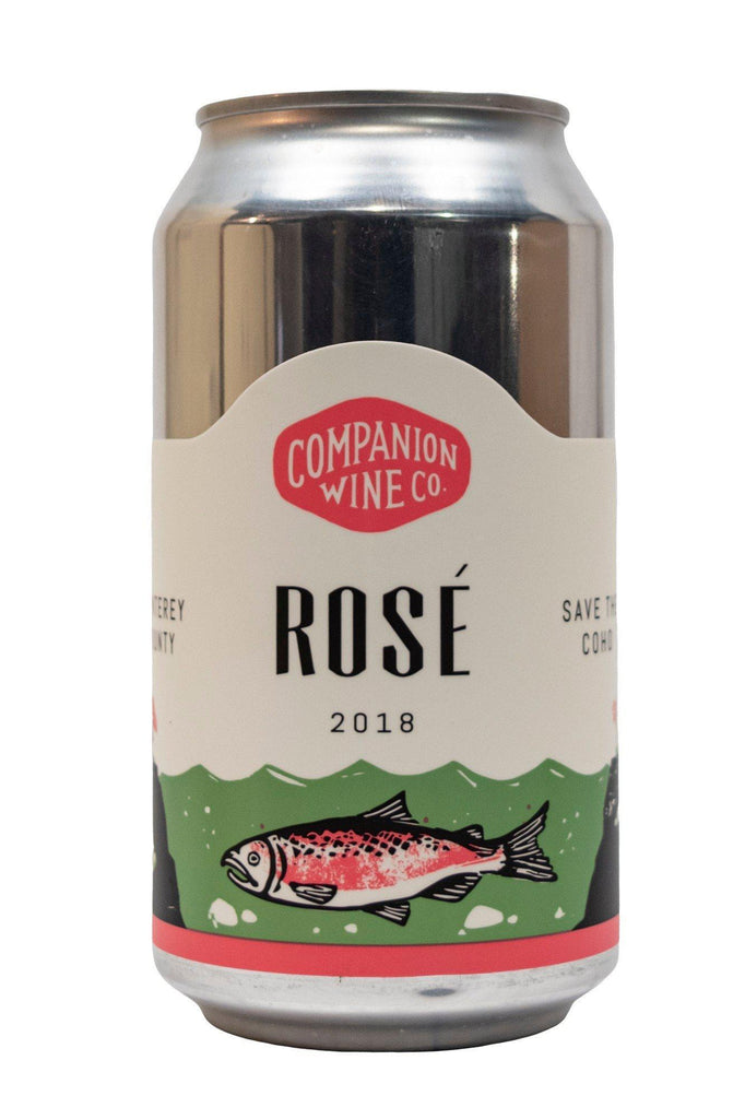 Bottle of Companion Wine Co., Rosé Monterey County (can), 2018 (375ml) - Flatiron Wines & Spirits - New York
