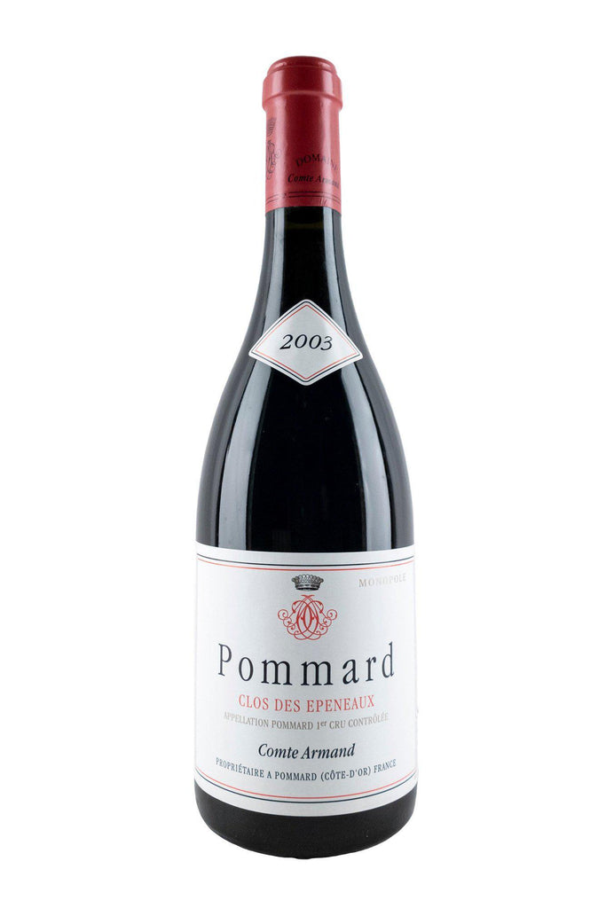 Bottle of Comte Armand, Pommard 1er Cru Clos des Epeneaux, 2003 - Flatiron Wines & Spirits - New York
