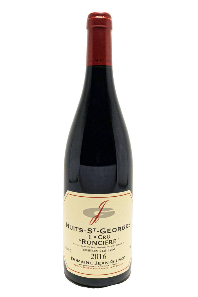Bottle of Domaine Jean Grivot, Nuits-St Georges 1er Cru Les Roncieres, 2016 - Flatiron Wines & Spirits - New York