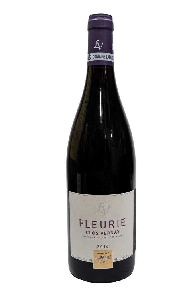 "Bottle of Domaine Lafarge-Vial, Fleurie ""Clos Vernay"", 2016 - Flatiron Wines & Spirits - New York"