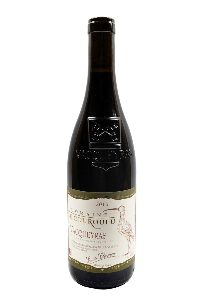 "Bottle of Domaine le Couroulu, Vacqueyras ""Cuvee Classique"", 2016 - Flatiron Wines & Spirits - New York"