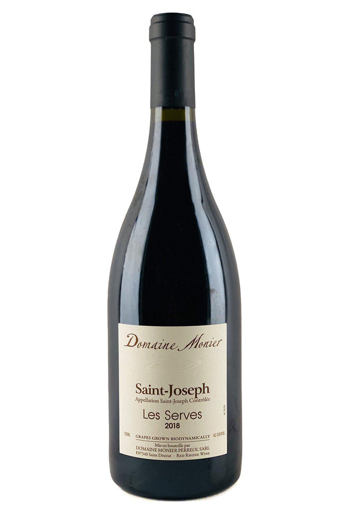 "Bottle of Domaine Monier Perreol, St. Joseph Rouge ""Les Serves"", 2018 - Flatiron Wines & Spirits - New York"