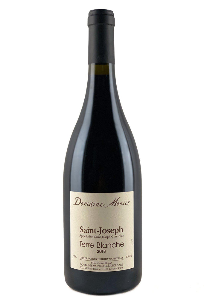 "Bottle of Domaine Monier Perreol, St. Joseph Rouge ""Terre Blanche"", 2018 - Flatiron Wines & Spirits - New York"