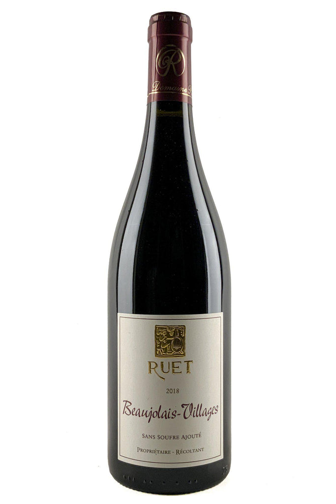 Bottle of Domaine Ruet, Beaujolais Villages Sans Soufre Ajoute, 2018 - Flatiron Wines & Spirits - New York