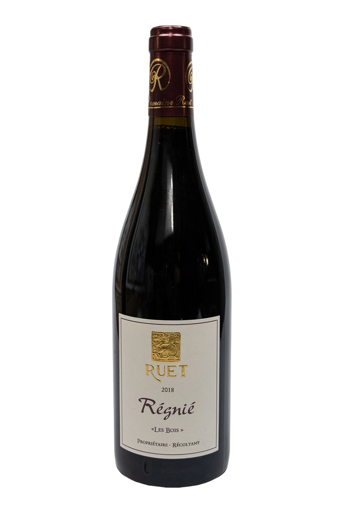 "Bottle of Domaine Ruet, Regnie ""Les Bois"", 2018 - Flatiron Wines & Spirits - New York"