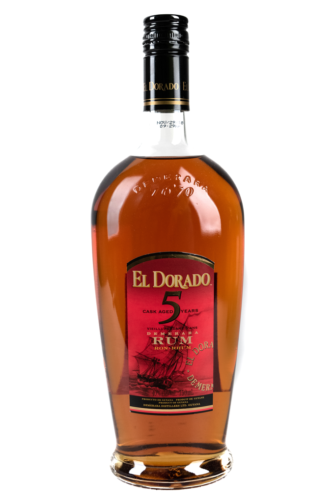 Bottle of El Dorado, Demerara Rum, 5 Year - Flatiron Wines & Spirits - New York