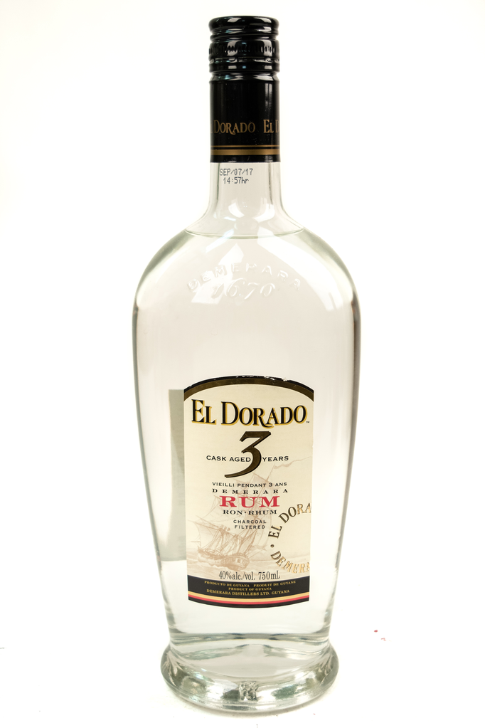 Bottle of El Dorado, White Demerara Rum, 3 Year - Flatiron Wines & Spirits - New York