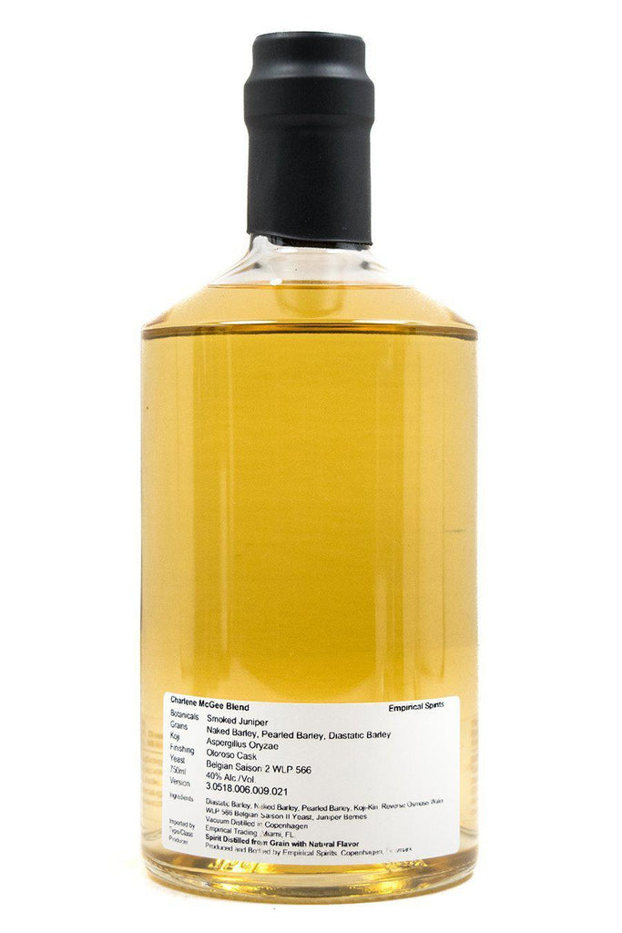 Bottle of Empirical Spirits, Charlene McGee Blend (Smoked Juniper and Barley) - Flatiron Wines & Spirits - New York