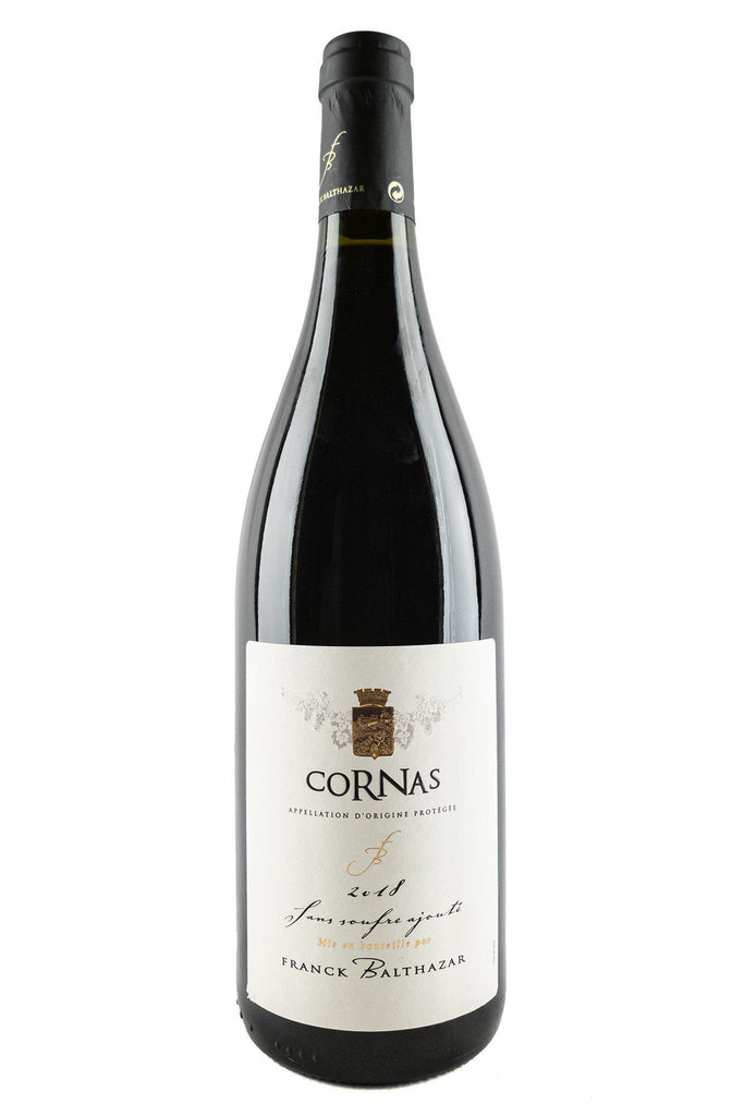 "Bottle of Franck Balthazar, Cornas ""Sans Soufre Ajoute"", 2018 - Flatiron Wines & Spirits - New York"