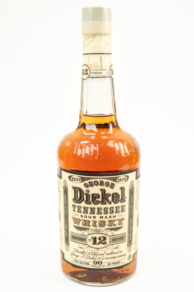 Bottle of George Dickel, Tennessee Sour Mash Whisky No.12-Flatiron Wines & Spirits - New York